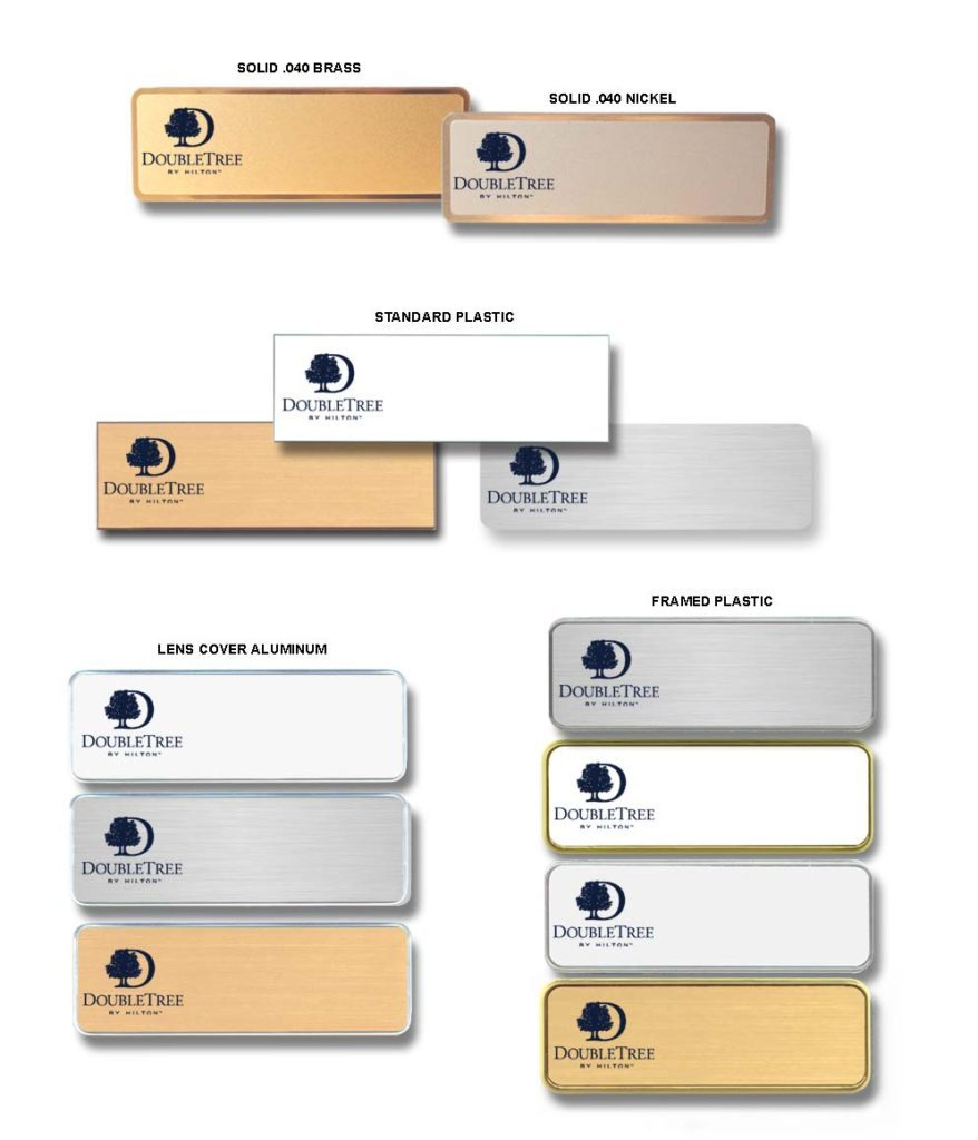 DoubleTree name badges tags