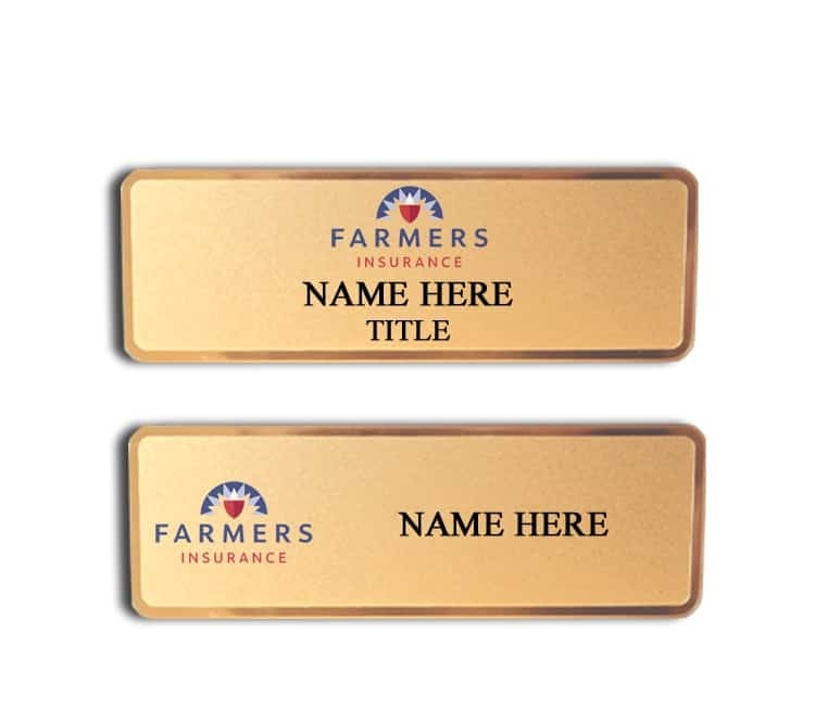 Farmers Insurance name badges tags