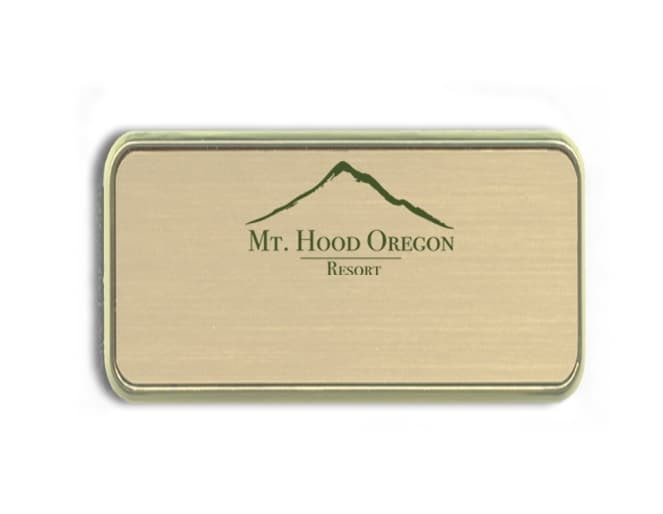 Mt. Hood Resort name badges tags