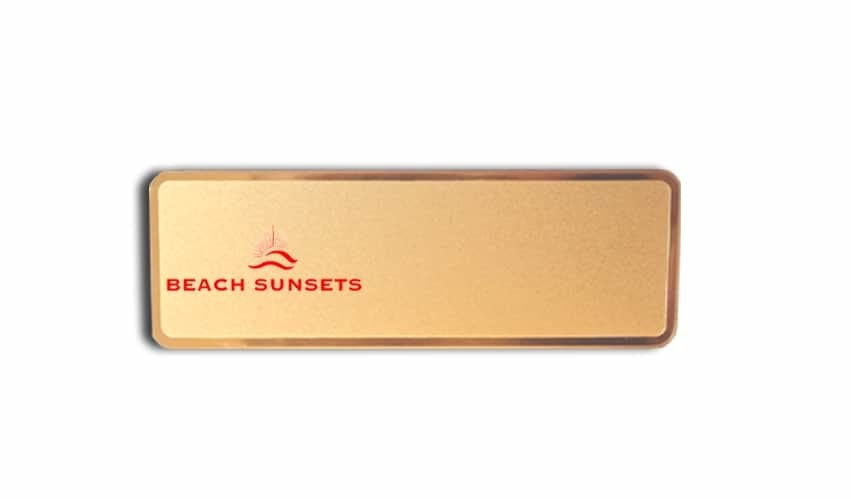 Beach Sunsets name badges tags