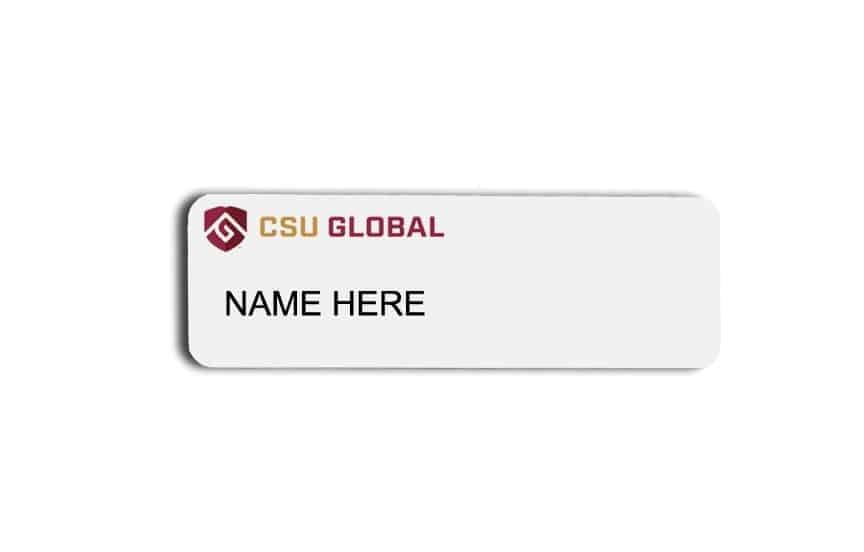 CSU Global name badges tags