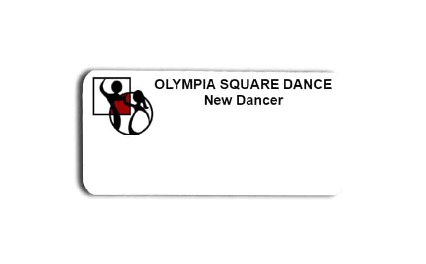 Olympia Square Dance name badges tags