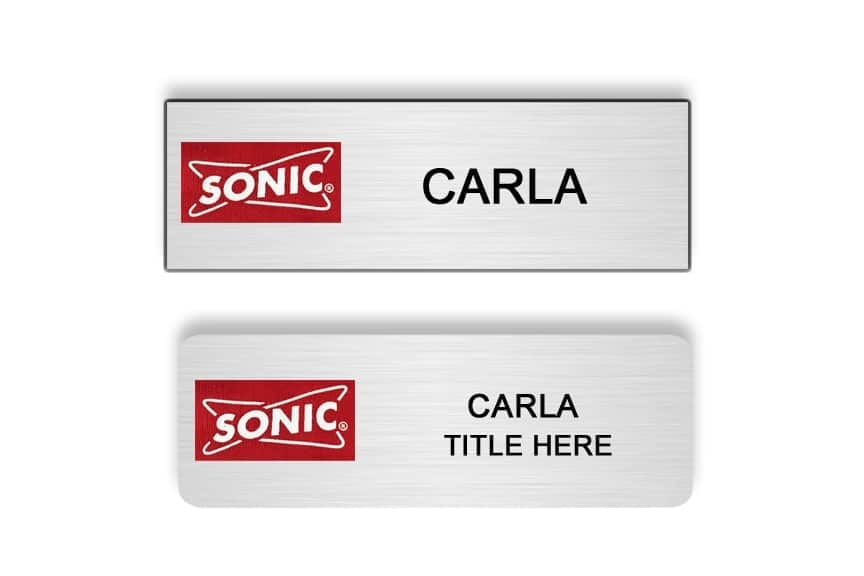 Sonic name badges tags