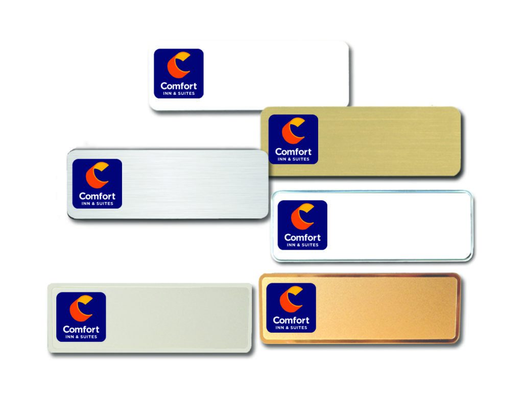 comfort inn and suites name badges