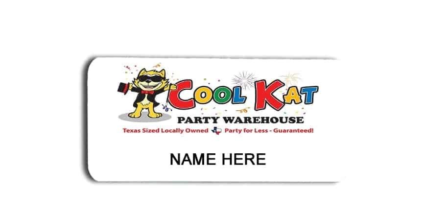 Cool Kat name badges