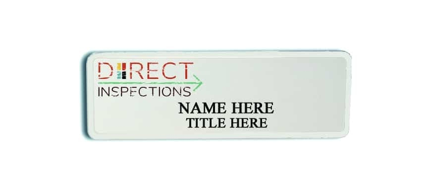 Direct Inspections name badges