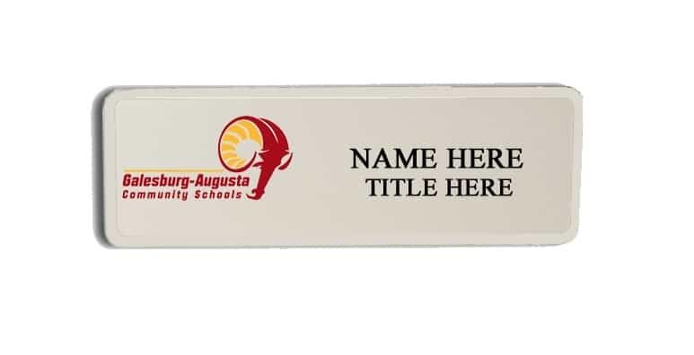 Galesburg-Augusta Community School name badges