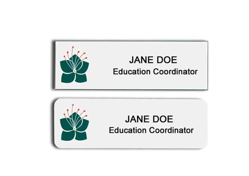 Leach Botanical Garden name badges
