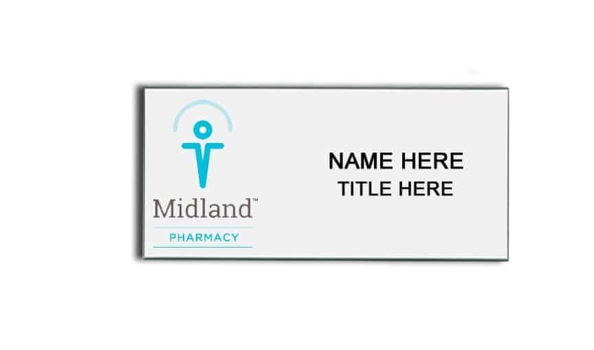 Midland Pharmacy Name Badges Tags