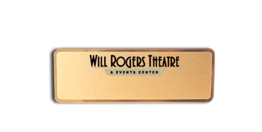 Will Rogers Theatre name badges tags
