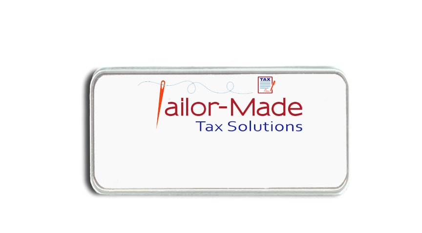Tailor-Made Tax Solutions name badges