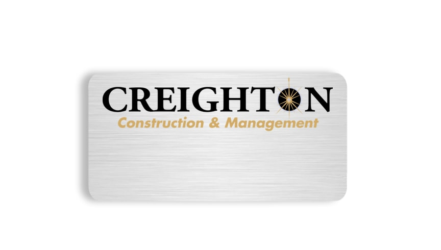 Creighton Construction name badges