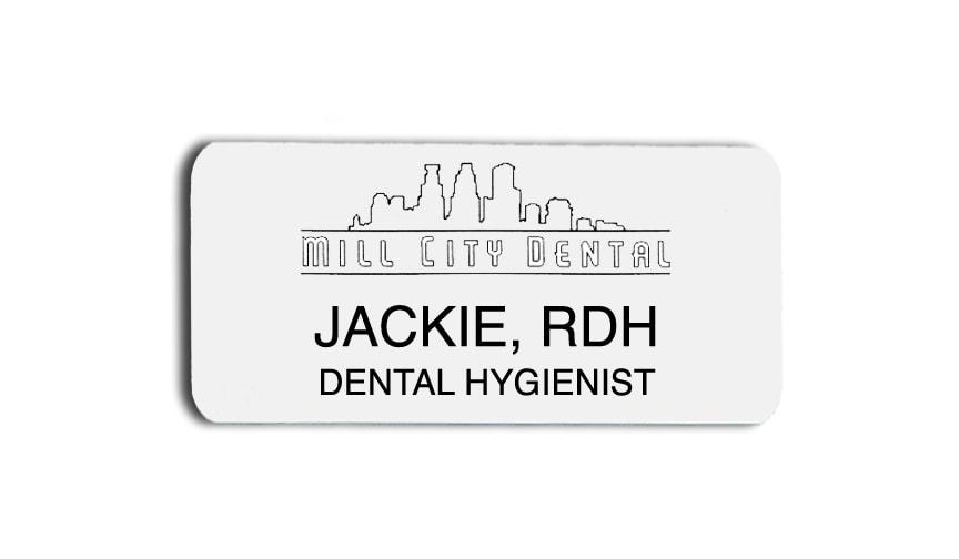 Mill City Dental name badges tags