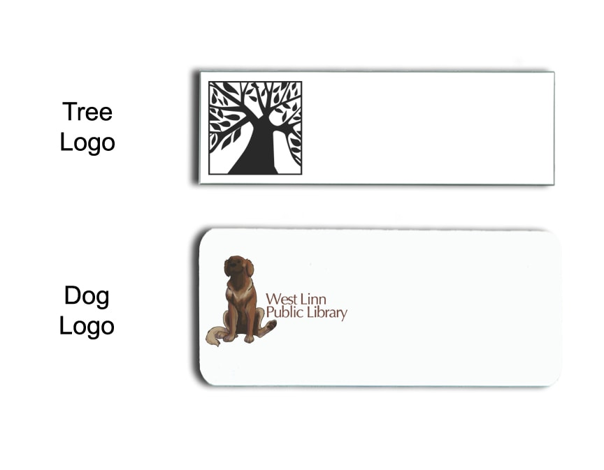 West Linn Library Name Badges Tags