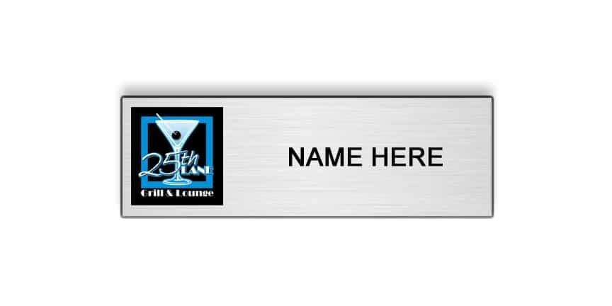 25th Lane name badges tags