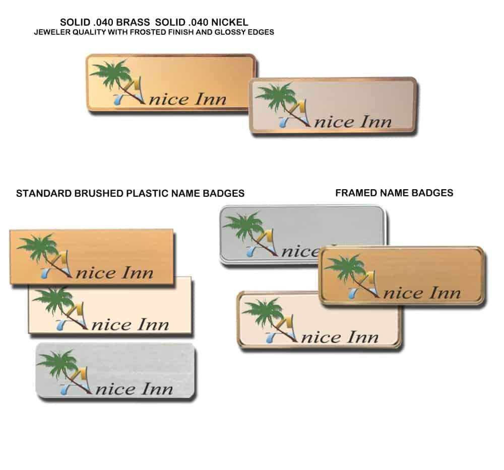 A Nice Inn name tags badges