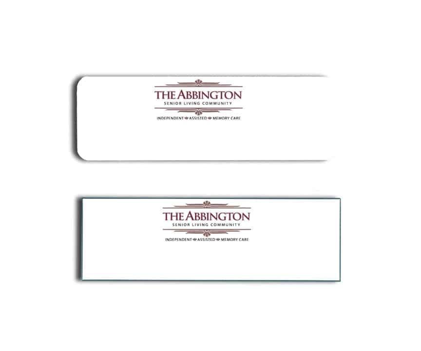 Abbington Senior Living Name Tags Badges
