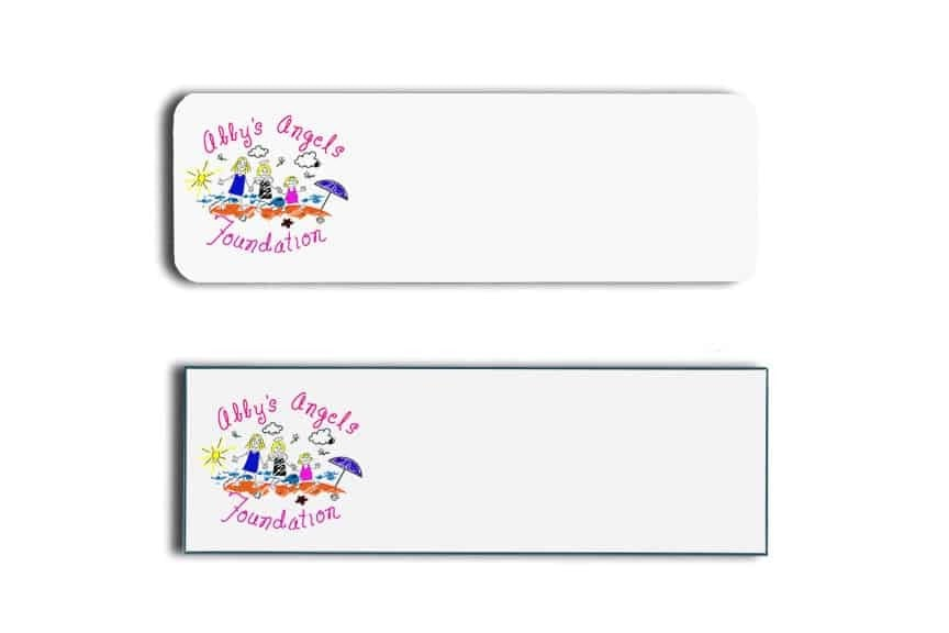 Abbys Angels Name Tags Badges