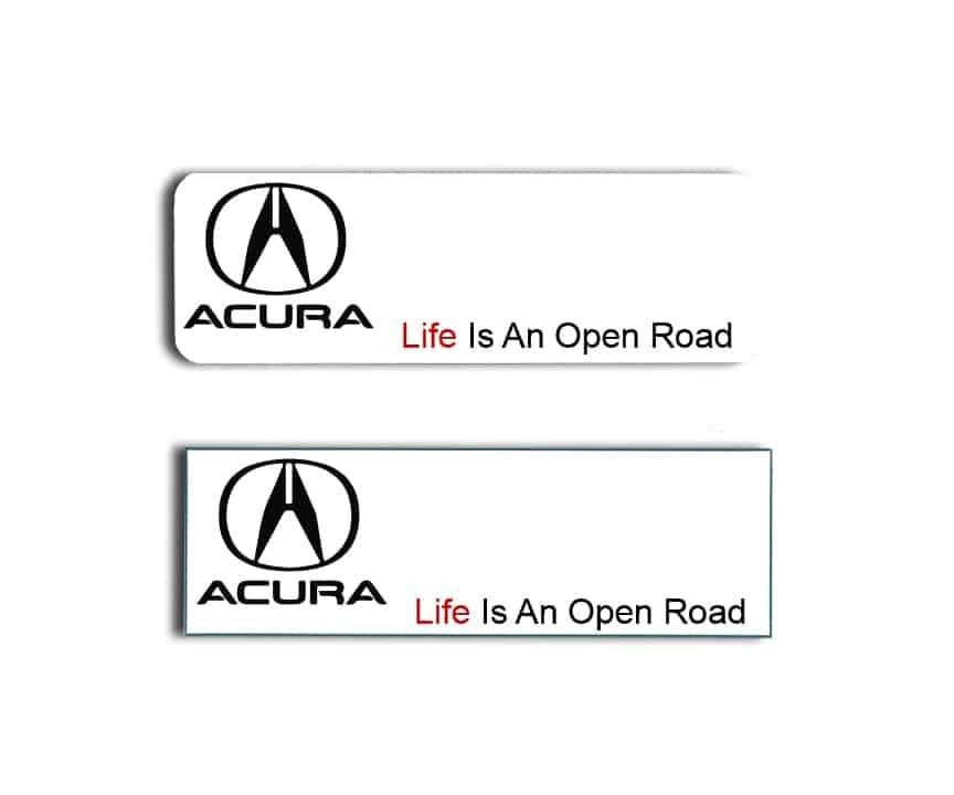 Acura Name Badges