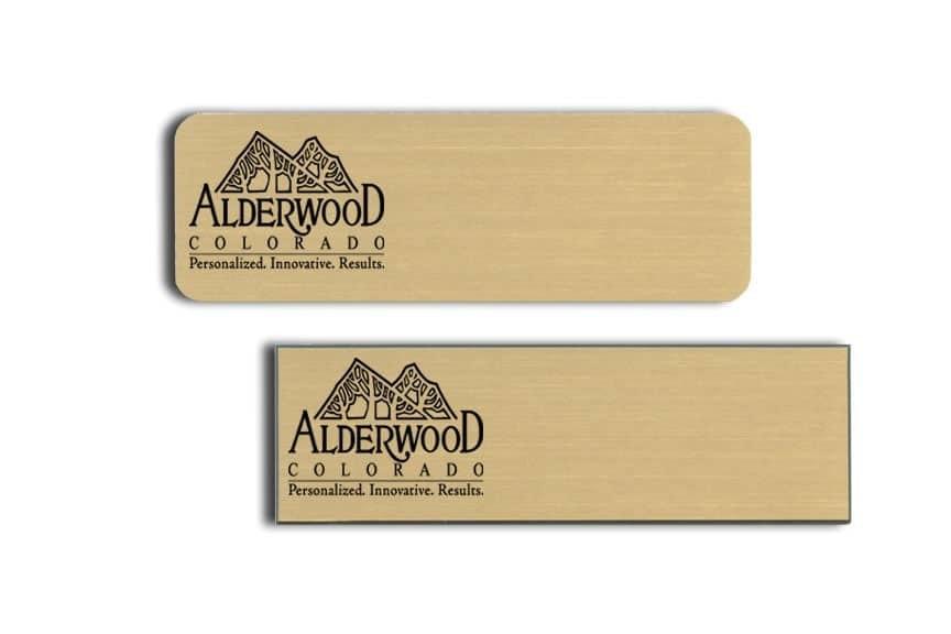 Alderwood Colorado Name Tags Badges