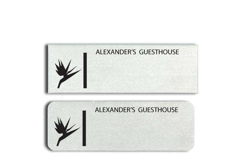 Alexanders Guesthouse Name Tags Badges