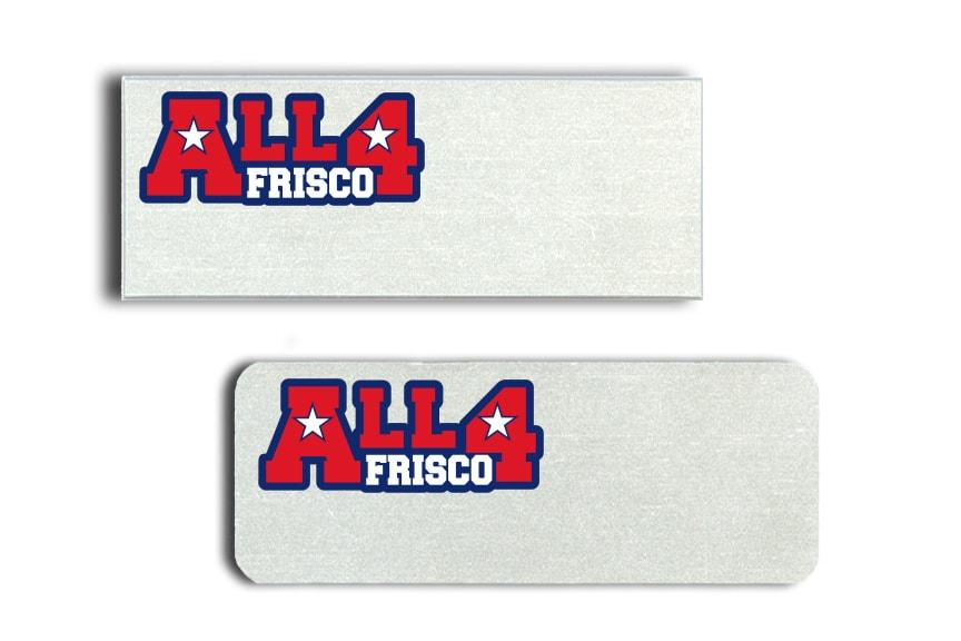 All 4 Frisco name badges