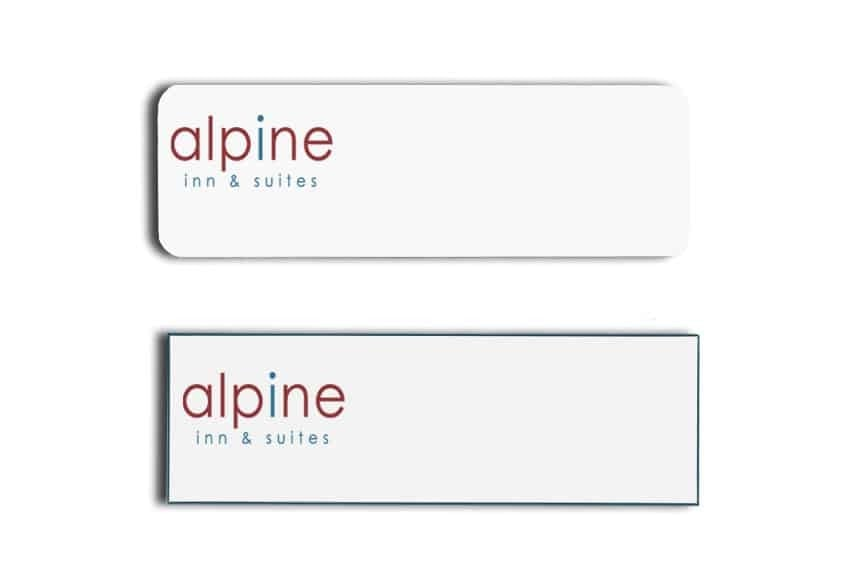 Alpine Inn and Suites Name Tags Badges