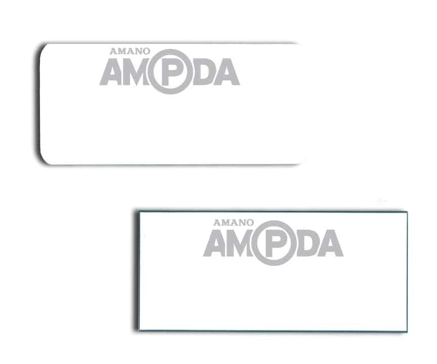Amano AMPDA name badges