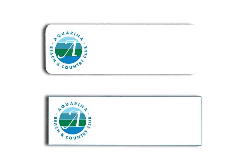 Aquarina Beach Name Tags Badges