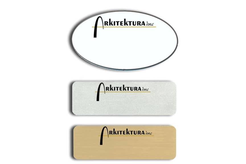 Arkitektura Name Badges