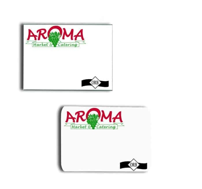 Aroma Market name badges tags