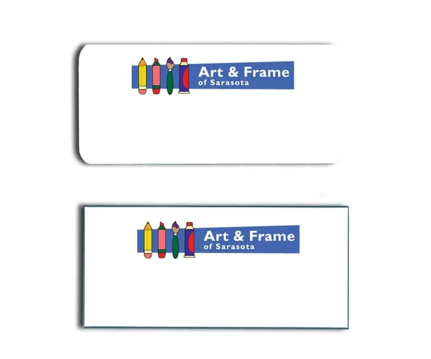 Art & Frame name badges tags