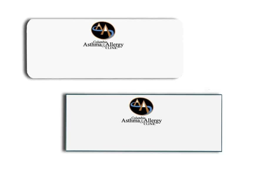 Asthma and Allergy Clinic Name Tags Badges