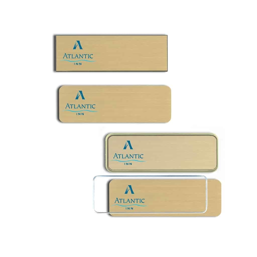 Atlantic Inn Name Tags Badges