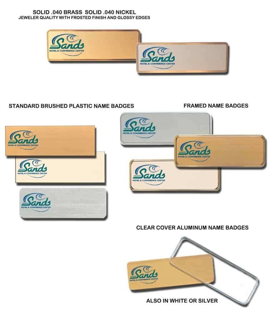 Atlantic Sands Hotel Name Tags Badges