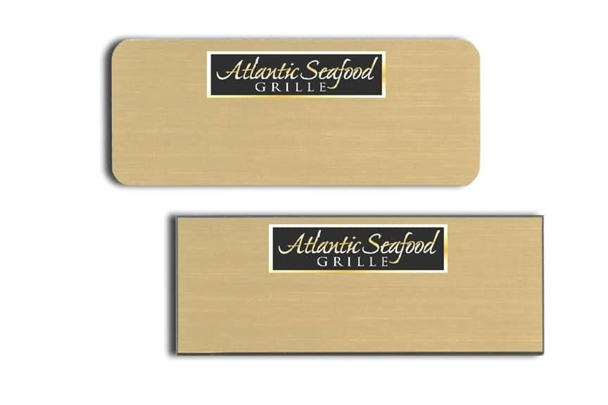 Atlantic Seafood Grille Name Tags Badges