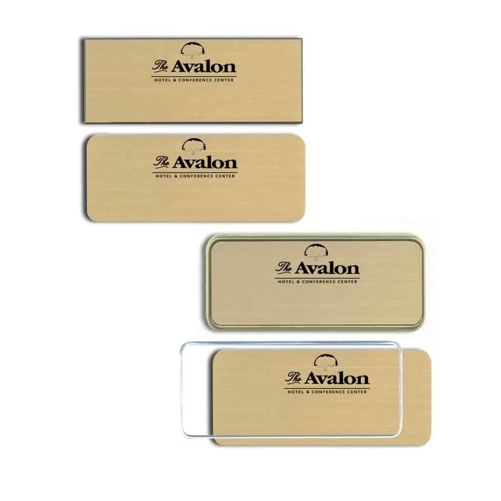 Avalon Hotel Name Tags Badges
