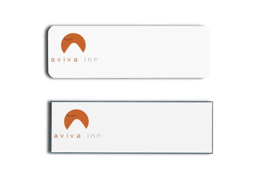Aviva Inn Name Tags Badges