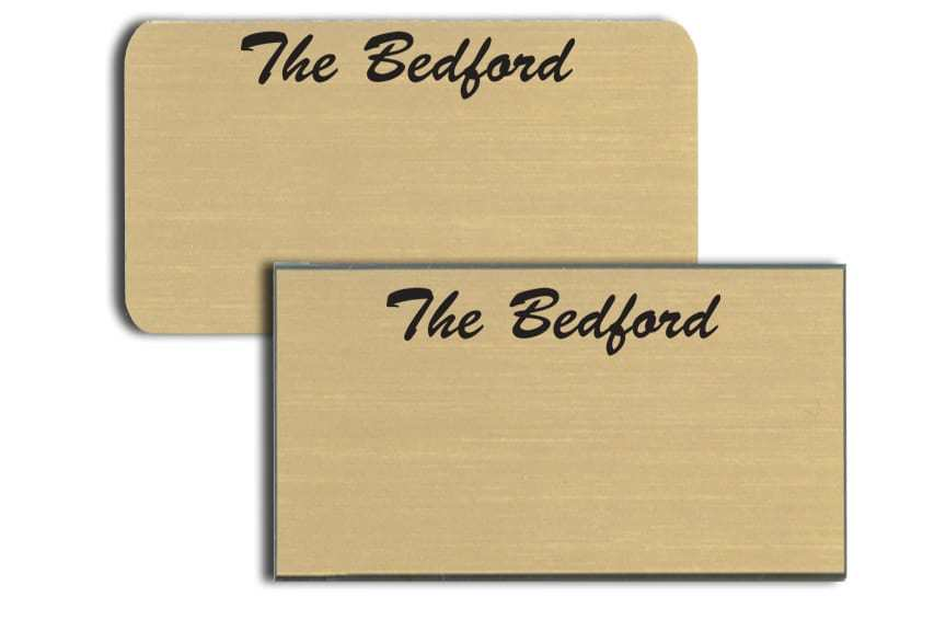 Bedford Hotel Name Tags Badges