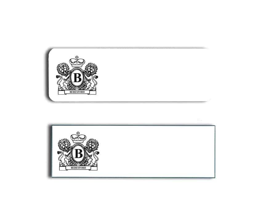 Beresford Name Badges