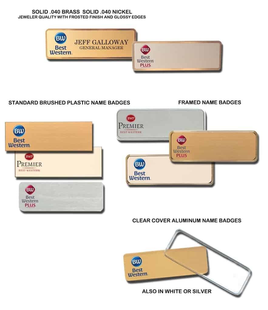 Best Western Premier name badges