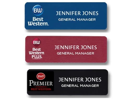 best western name tags badges