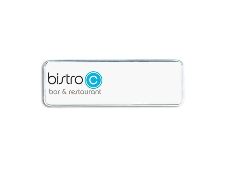 Bistro bar and restaurant name badges