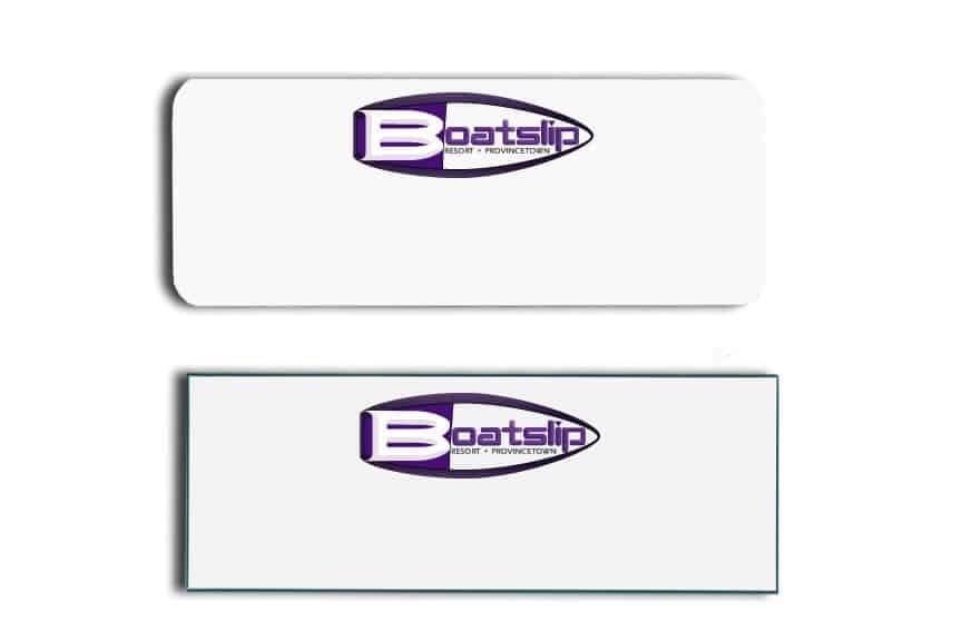 Boatslip Resort Name Tags Badges
