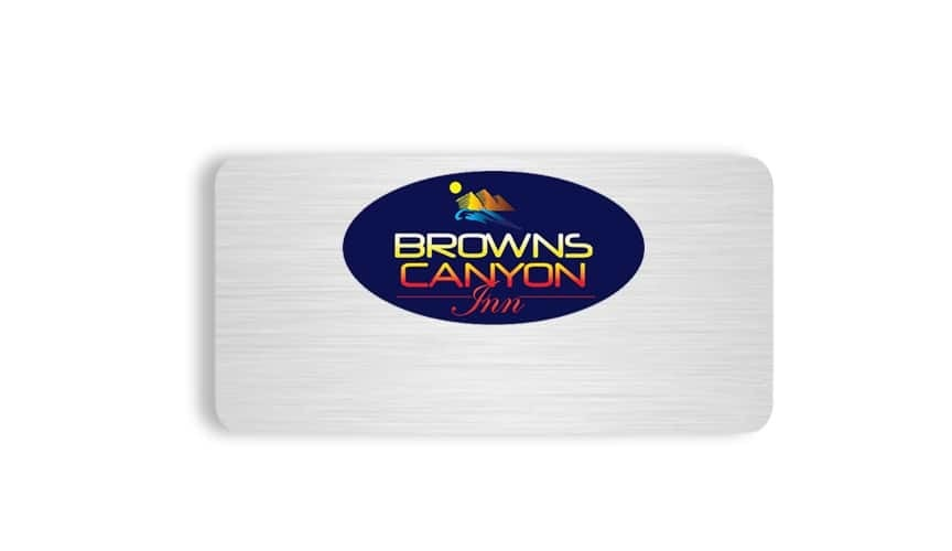 Browns Canyon Inn name badges tags