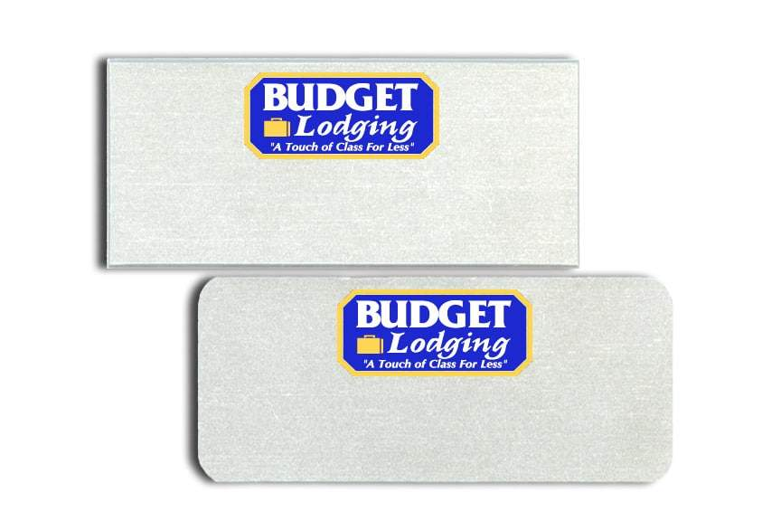 Budget Lodging Name Tags Badges