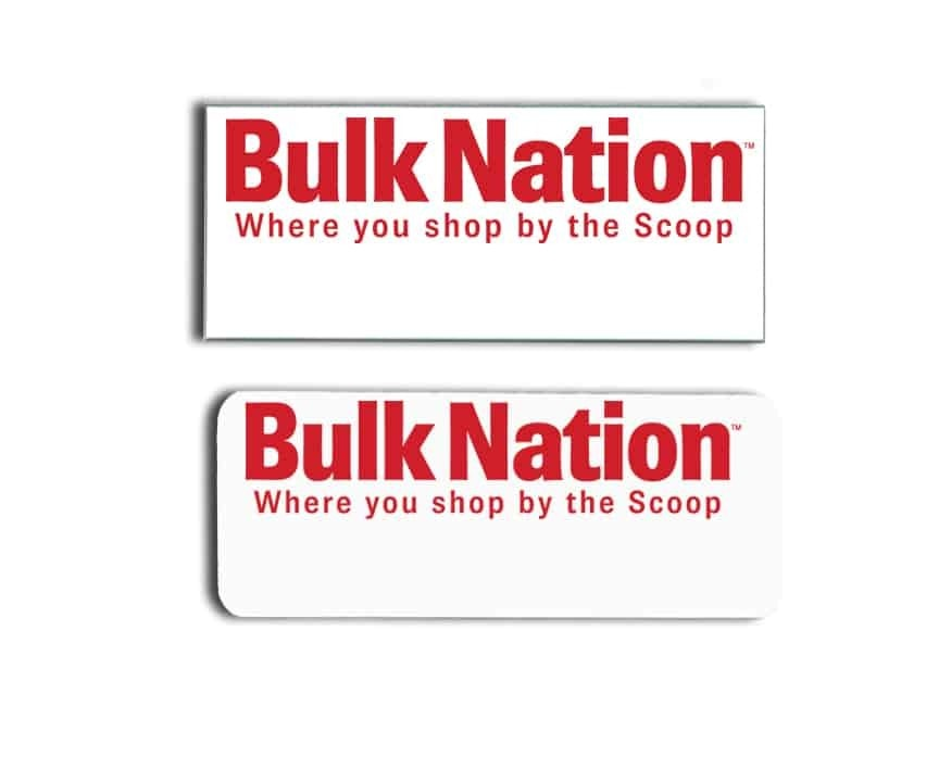 Bulk Nation name badges