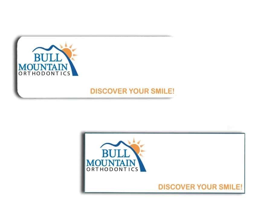 Bull Mountain name badges