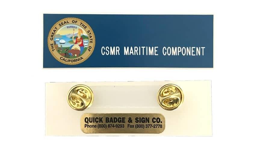 CSMR Maritime name badges