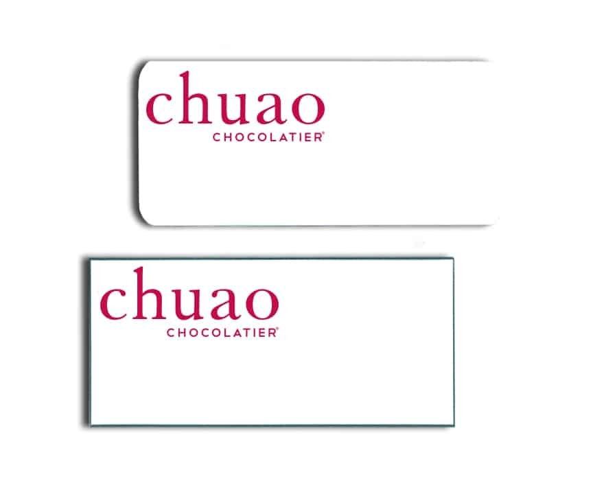 Cafe Chuao Name Badges